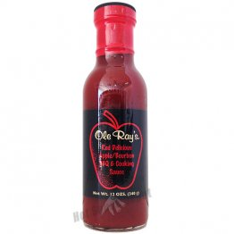 Ole Ray's Red Delicious Apple Bourbon BBQ and Cooking Sauce, 12oz