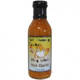 The Flaming Chicken Hot Garlic Wing Sauce, 12oz