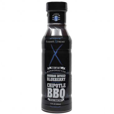 Elijah's Xtreme Bourbon Infused Blueberry Chipotle BBQ Sauce, 12oz