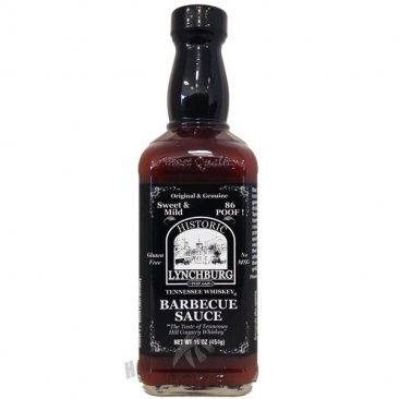 Lynchburg Tennessee Whiskey BBQ Sauce-Mild (86 Poof), 16oz