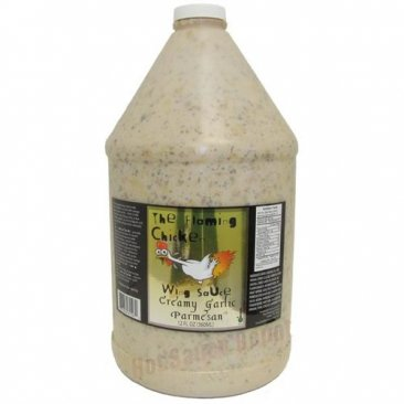 The Flaming Chicken Creamy Garlic Parmesan Wing Sauce, 1 Gallon